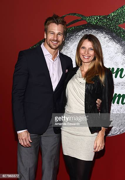 Actor and model Rusty Joiner and Charity Walden Joiner arrive at a screening of Hallmark Channel's A Nutcracker Christmas at The Grove on December 5...