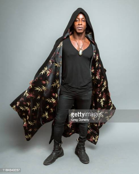 Actor and model Shaka Smith wearing a YANGYIN Apparel outfit by Jordan Hill poses for a portrait as Project Save Our Surf visits TAP The Artists...