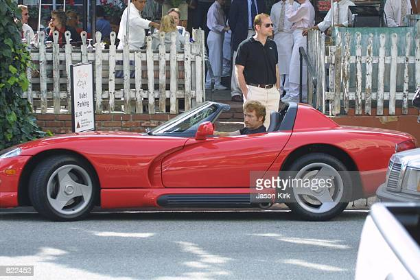 Actor and morning DJ Danny Bonaduce prepares to drive away after having lunch at Ivy restaurant March 21 2001 in Beverly Hills CA Bonaduce will be...