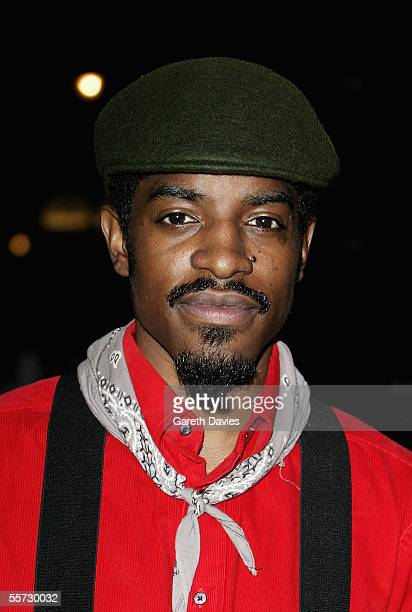 """Actor and musician Andre Benjamin arrives at the UK Premiere of """"Revolver"""" at the Odeon Leicester Square on September 20, 2005 in London, England."""