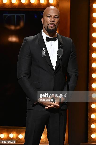Actor and musician Common speaks onstage as a presenter during the 70th Annual Tony Awards at The Beacon Theatre on June 12 2016 in New York City