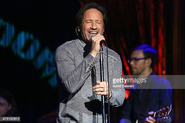 Actor and musician David Duchovny performs at The Cutting Room on May 12 2015 in New York City
