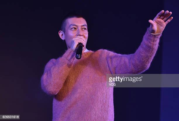 Actor and musician Edison Chen Koonhei attends a brand's annual meeting on November 29 2016 in Chengdu Sichuan Province of China