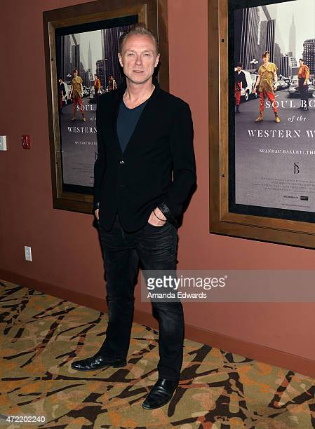 Actor and musician Gary Kemp attends the premiere of Soul Boys Of The Western World Spandau Ballet at the Sundance Cinema on May 4 2015 in Los...