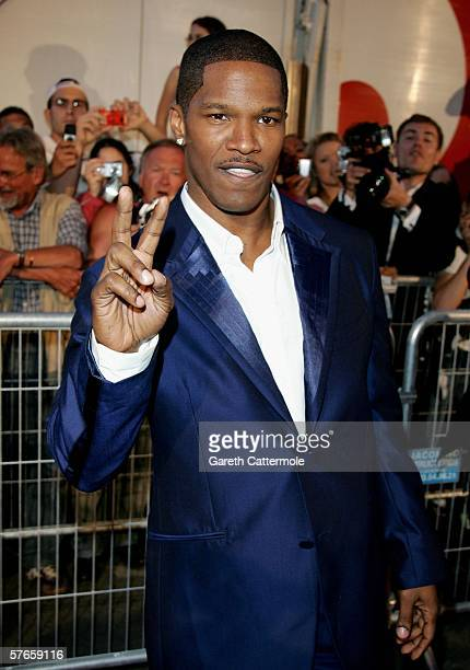 US actor and musician Jamie Foxx attends the 'Dreamgirls' premiere at the Martinez Hotel during the 59th International Cannes Film Festival May 19...