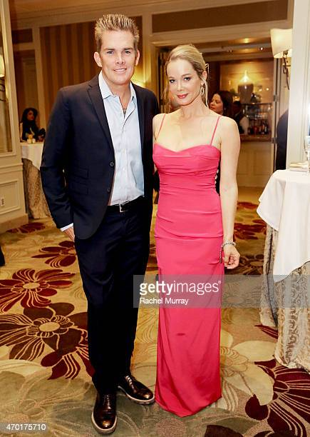 Actor and musician Mark McGrath and Actress Jennifer Gareis attend Path2Parenthood - Illuminations LA 2015 at Four Seasons Hotel Los Angeles on April...
