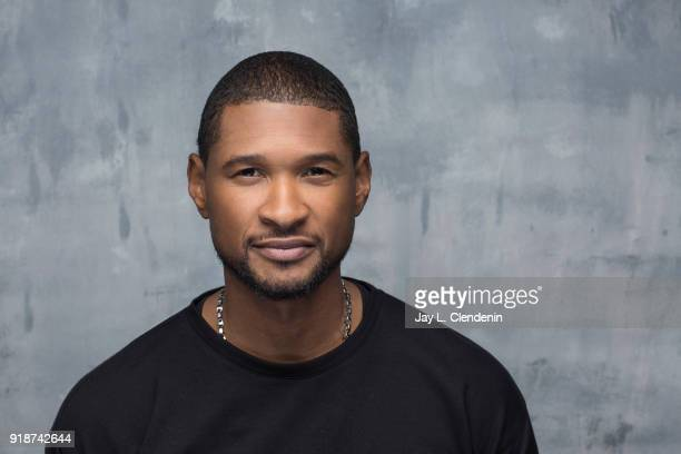 Actor and musician Usher Raymond from the film 'Burden' is photographed for Los Angeles Times on January 21 2018 in the LA Times Studio at Chase...