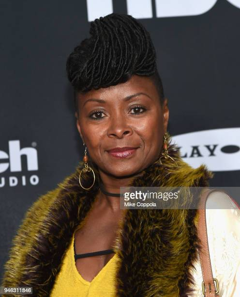 Actor and niece of Nina Simone Crystal Fox attends the 33rd Annual Rock Roll Hall of Fame Induction Ceremony at Public Auditorium on April 14 2018 in...