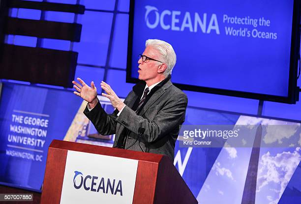 Actor and Ocean Advocate Ted Danson speaks during the Oceana's Coastal Voices Summit at George Washington University on January 26 2016