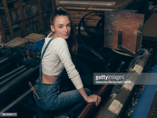 Actor and painter Charlotte Le Bon is photographed for Paris Match on September 22 2017 in Paris France