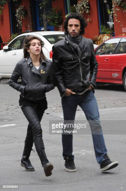 Actor and personal trainer Carlos Leon and his daughter with Madonna Lourdes Maria Ciccone Leon walk in the city on November 1 2009 in New York City