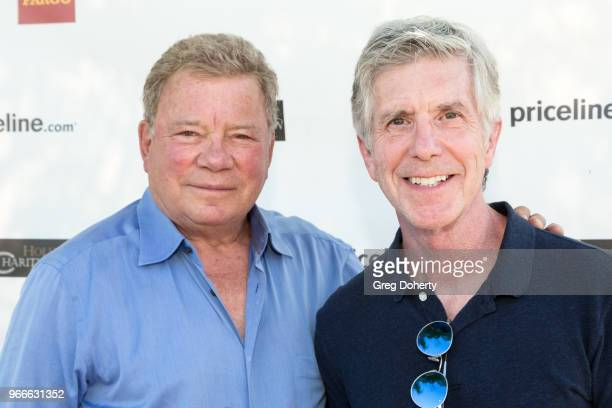 Actor and philanthropist William Shatner and 'Dancing with the Stars' Tom Bergeron attend the William Shatner's Pricelinecom Hollywood Charity Horse...