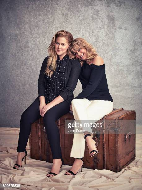 Actor and producer Amy Schumer is photographed with Goldie Hawn for 20th Century Fox Press Shoot on February 24 2017 in Los Angeles California