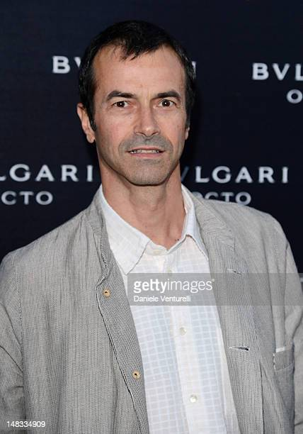 Actor and producer Andrea Occhipinti attend the 'OCTO The New Architecture of Time by Bulgari' event at the Stadio dei Marmi on July 13 2012 in Rome...
