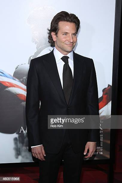Actor and Producer Bradley Cooper arrives at the American Sniper New York Premiere at Frederick P Rose Hall Jazz at Lincoln Center on December 15...