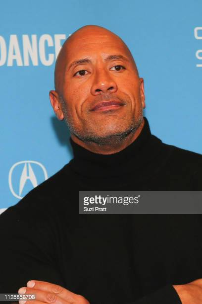 Actor and producer Dwayne Johnson poses for a photo at a Sundance special screening of Fighting with My Family on January 28 2019 in Park City Utah