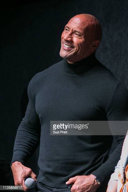 Actor and producer Dwayne Johnson speaks at a Sundance special screening of Fighting with My Family on January 28 2019 in Park City Utah