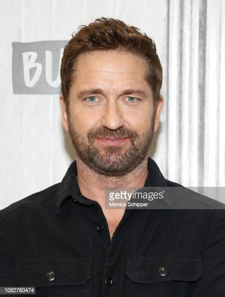 Actor and producer Gerard Butler visits Build Studio to discuss his new film 'Hunter Killer' on October 22 2018 in New York City
