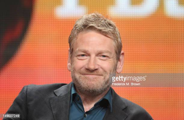 Actor and producer Kenneth Branagh speaks onstage at the Masterpiece Mystery 'Wallander III' panel during day 1 of the PBS portion of the 2012 Summer...