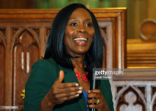 Actor and Producer Lanette Ware-Bushfield hosts Listen and Learn at Kingston Road United Church on December 8, 2019 in Toronto, Canada.