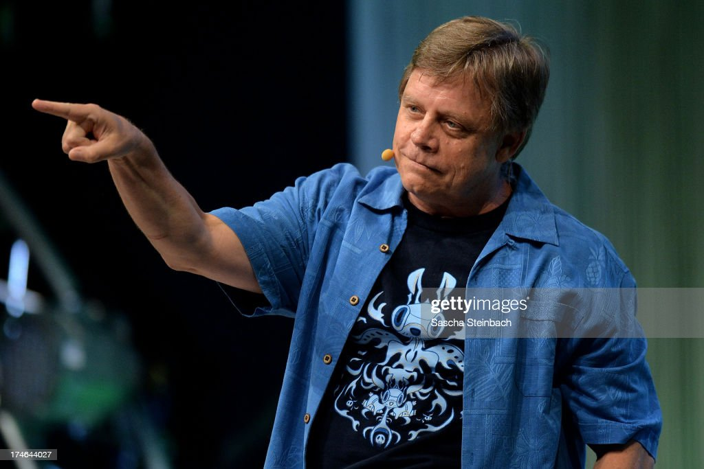 Actor and producer Mark Hamill, best known for his performance as Luke Skywalker in the original Star Wars trilogy, attends the Star Wars Celebration at Messe Essen on July 28, 2013 in Essen, Germany.