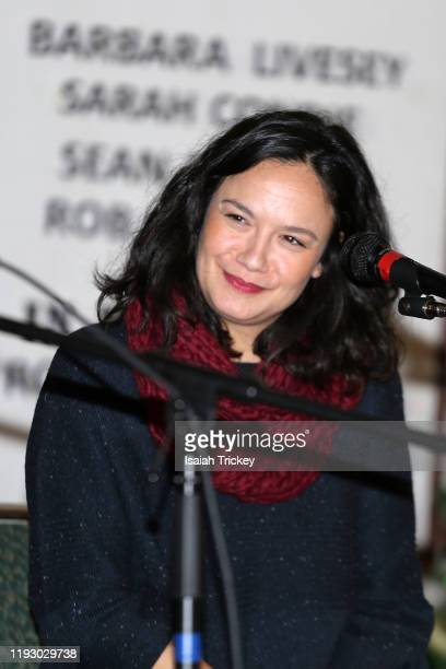 Actor and Producer Sarah Podemski attends Listen and Learn at Kingston Road United Church on December 8 2019 in Toronto Canada