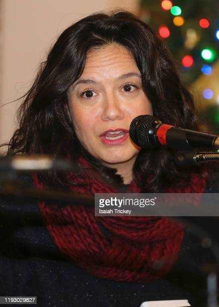 Actor and Producer Sarah Podemski attends Listen and Learn at Kingston Road United Church on December 8, 2019 in Toronto, Canada.