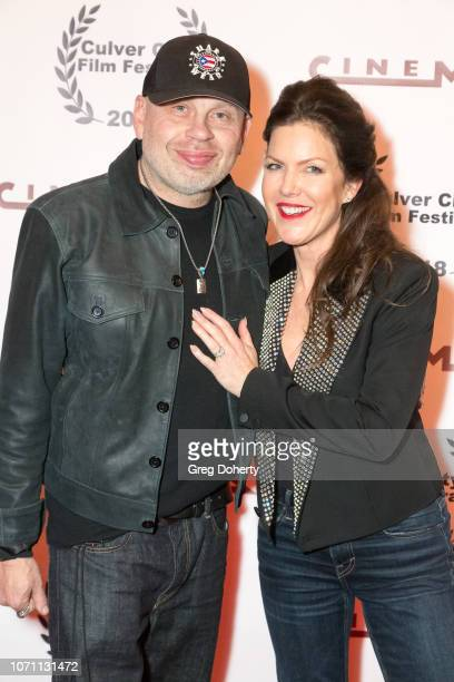 Actor and Producer Vince Lozano and Actress and Executive Producer Kira Reed Lorsch attend a screening of Acts Of Desperation At Culver City Film...