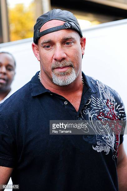 Actor and professional wrestler Bill Goldberg enters his Midtown Manhattan hotel on October 20 2009 in New York City