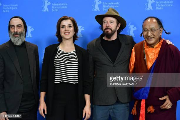 Actor and protagonist Ilker Abay German journalist and protagonist EvaMaria Lemke German director Uli M Schueppel and protagonist Lama Gelek Ngawang...