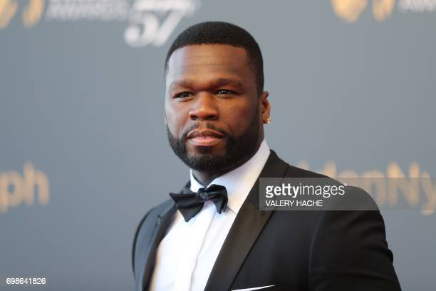 US actor and rapper 50 Cent aka Curtis Jackson poses during the closing ceremony of the 57th MonteCarlo Television Festival on June 20 2017 in Monaco...