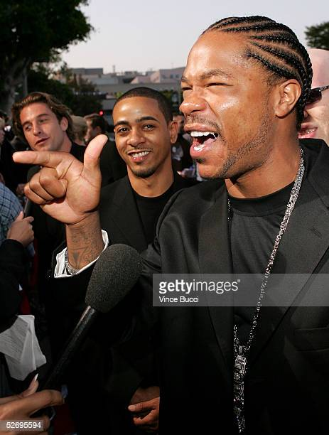 Actor and rapper Alvin Joyner aka Xzibit is interviwed as he arrives at the premiere of Revolution Studios and Columbia Pictures XXX State of the...