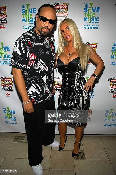 Actor and rapper IceT and his wife Coco pose at VH1 Hip Hop Honors After Party Benefiting VH1 Save The Music Foundation at Providence October 4 2007...