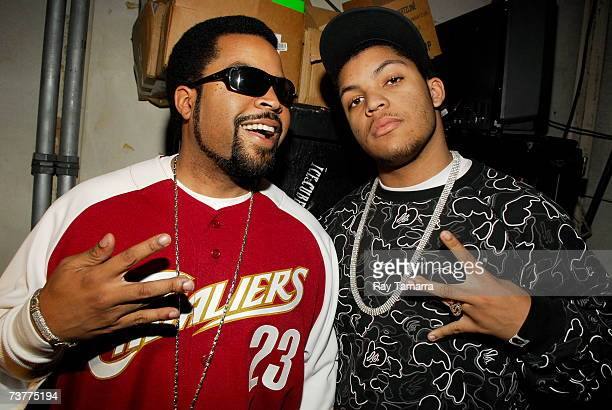 Actor and recording artist Ice Cube and his son Oshea Jackson Jr. Attend BET's 106 & Park taping at the CBS Studios April 2, 2007 in New York City.