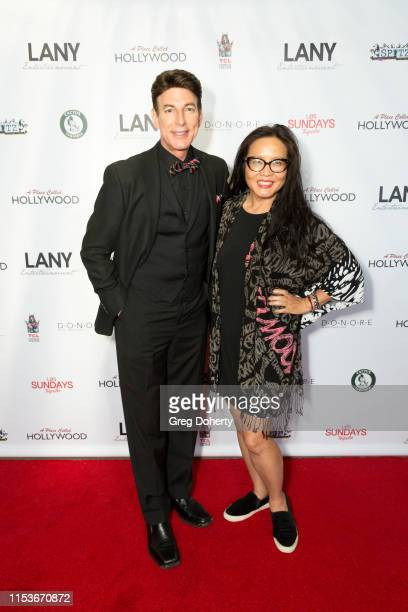 Actor and Red Carpet Host BJ Korros and Media Personality Joyce Chow attend an FYC Event A Place Called Hollywood at TCL Chinese 6 Theatres on June...