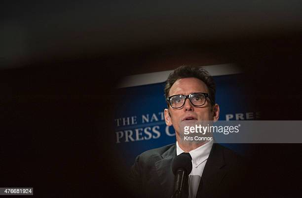 Actor and Refugees International Board Member Matt Dillon speaks during a National Press Club Speakers Newsmakers event at the National Press Club on...
