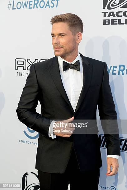 Actor and roast recipient Rob Lowe arrives for the Comedy Central Roast Of Rob Lowe at Sony Studios on August 27 2016 in Los Angeles California