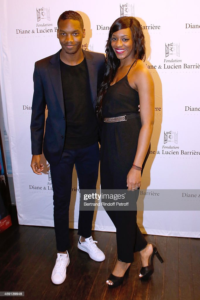 Actor and Scenarist of the movie Ahmed Drame and his sister actress Koro Drame attend 'Les Heritiers' receives Cinema Award 2014 of Foundation Diane & Lucien Barriere during the premiere of the movie at Publicis Champs Elysees on November 17, 2014 in Paris, France.