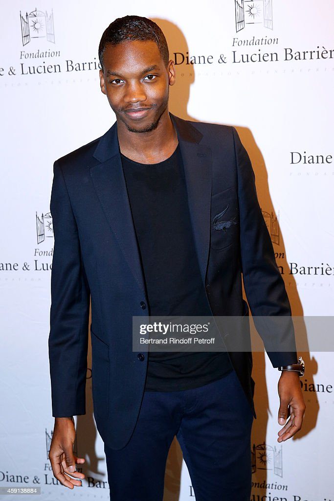 Actor and Scenarist of the movie Ahmed Drame attends 'Les Heritiers' receives Cinema Award 2014 of Foundation Diane & Lucien Barriere during the premiere of the movie at Publicis Champs Elysees on November 17, 2014 in Paris, France.