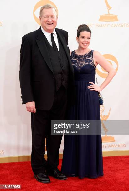 Actor and Screen Actors Guild President Ken Howard and guest arrive at the 65th Annual Primetime Emmy Awards held at Nokia Theatre LA Live on...