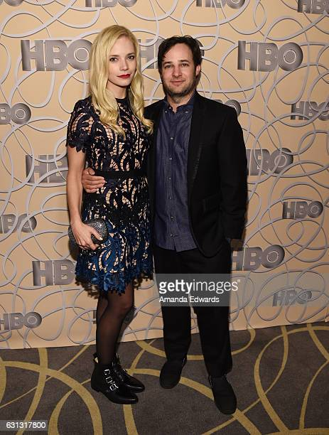 Actor and screenwriter Danny Strong and Caitlin Mehner arrive at HBO's Official Golden Globe Awards After Party at Circa 55 Restaurant on January 8...