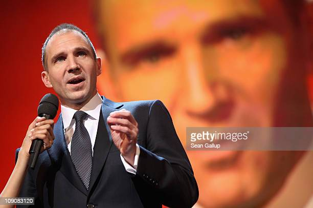 Actor and Shooting Stars patron Ralph Fiennes speaks during the Shooting Stars Award 2011 on day five of the 61st Berlin International Film Festival...