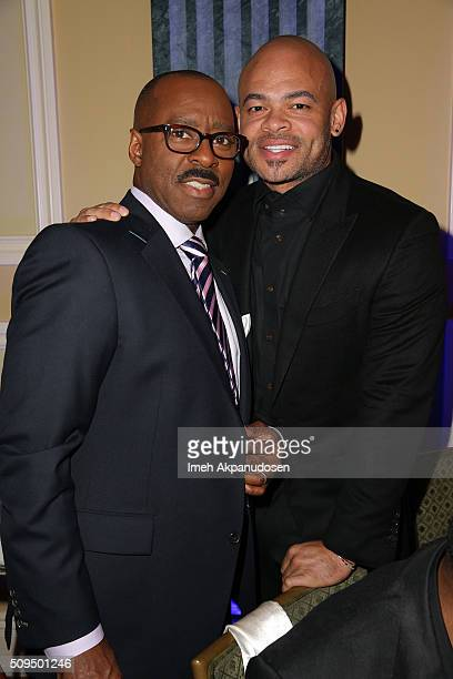 Actor and show presenters Courtney B Vance and producer Anthony Hemingway attend the 7th Annual AAFCA Awards on February 10 2016 in Los Angeles...