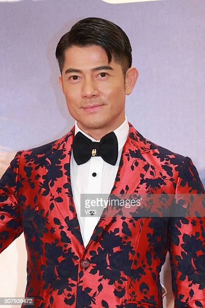 Actor and singer Aaron Kwok attends the charity premiere of director Cheang Pousoi's film The Monkey King 2 held by the Po Leung Kuk on February 1...