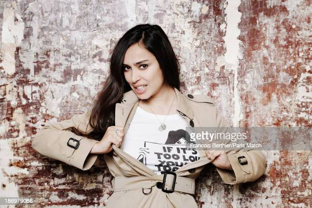 Actor and singer Alka Balbir is photographed for Paris Match on September 20 2013 in Paris France
