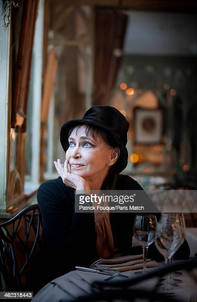Actor and singer Anna Karina is photographed for Paris Match on December 15 2013 in Paris France