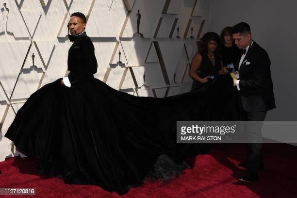 US actor and singer Billy Porter arrives for the 91st Annual Academy Awards at the Dolby Theatre in Hollywood California on February 24 2019