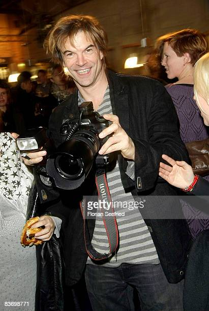 Actor and singer Campino attends the afterparty following the premiere of 'Palermo Shooting' at cinema Kulturbrauerei on November 14 2008 in Berlin...