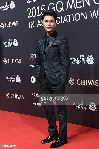 Actor and singer Chen Kun poses on the red carpet of 2015 GQ Men Of The Year on September 15 2015 in Shanghai China