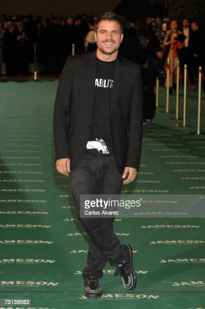 Actor and singer Dani Martin attends the Goya Cinema Awards ceremony on January 28 2007 at the Palacio de Congresos in Madrid Spain